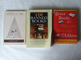 Lot of 3 Reference Books Banned Book African American Children & Inspira... - $11.13