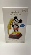 Hallmark Keepsake 2011 Mickey's Talking Telephone - magic ornament - $29.65
