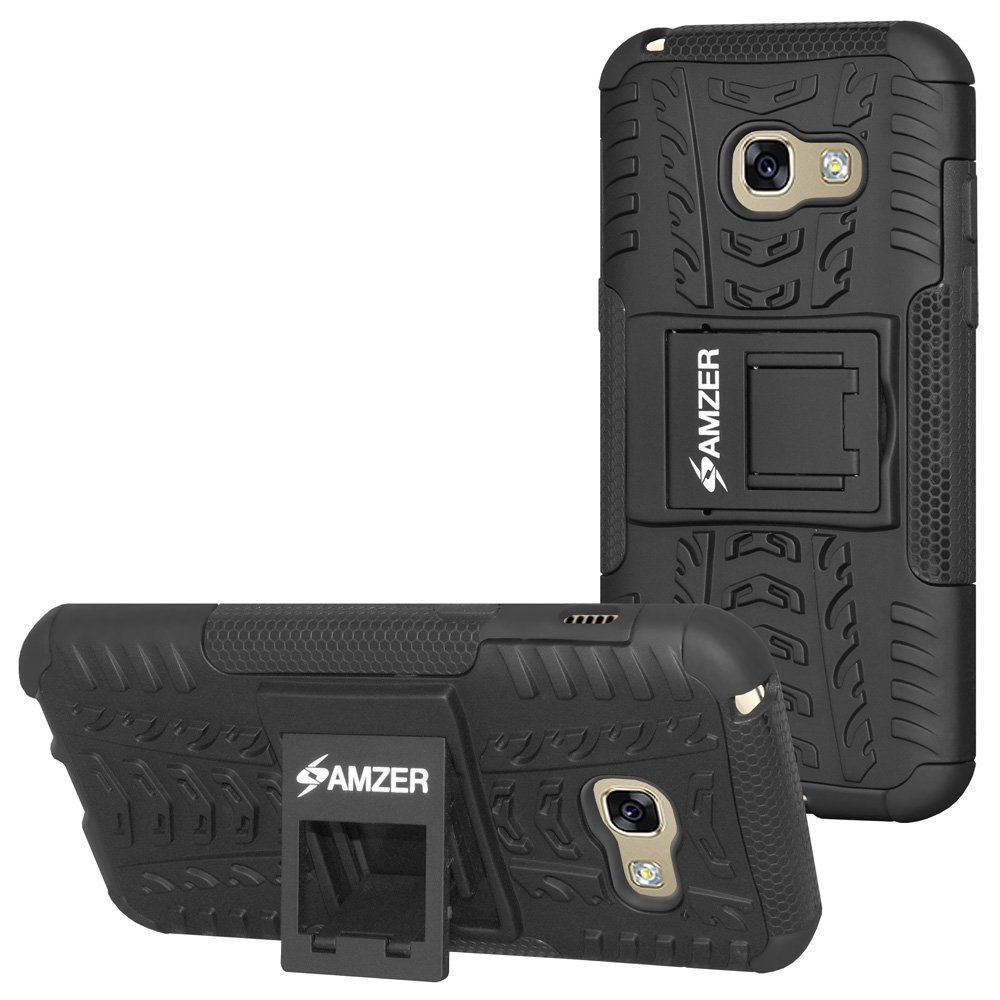 AMZER Slim Protective Shockproof Heavy Duty Hybrid Warrior Dual Layer Case for S