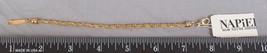 Gold Tone Rope Bracelet Napier Signed Jewelry jds2 - $13.85