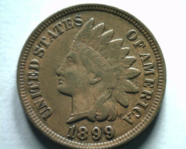 1899 INDIAN CENT PENNY ABOUT UNCIRCULATED AU NICE ORIGINAL COIN FROM BOB... - $22.00