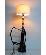 Black Glass Hookah Shisha Moroccan Lamp Shade Traditional Floor & Table ... - $300.14