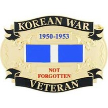 United States American KOREAN WAR VETERAN Belt Buckle - $18.76