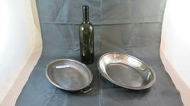 Two Bowls Centerpieces Dishes Fruit Bowl Vintage Metal silver plated BM29 - $108.15