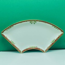 Waterford fine china holiday ribbon Christmas serving candy nut dish plate vtg 1 - $43.32