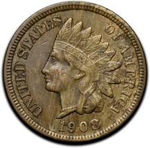 1908S Indian Head Cent Penny Coin Lot# A 338