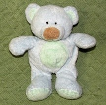 Ty Pluffies Bluebeary Blue Teddy Bear Plush Stuffed 2002 Brown Nose Green Tummy - $21.49