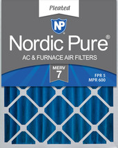 Nordic Pure 16x20x4 (3 5/8) Pleated MERV 7 Air Filter 1 Pack - $21.10