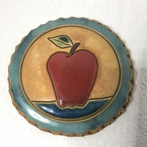 Nan Groves Bread Tortillas Warmer Pottery Tile Apple Farmhouse Country 5... - $15.99
