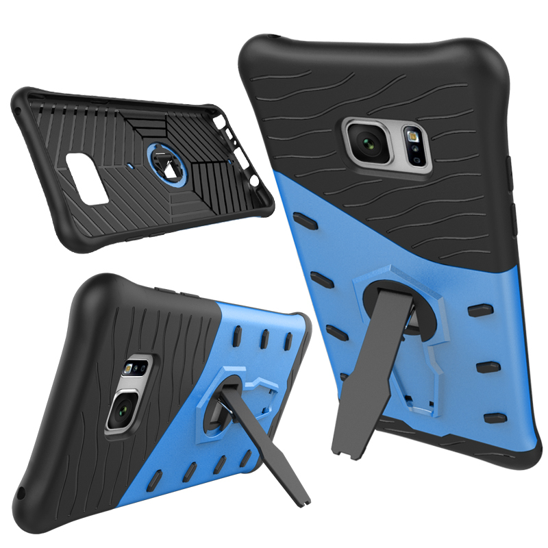 Shockproof Hybrid Kickstand Protective Case for Samsung Galaxy Note 7 - Blue