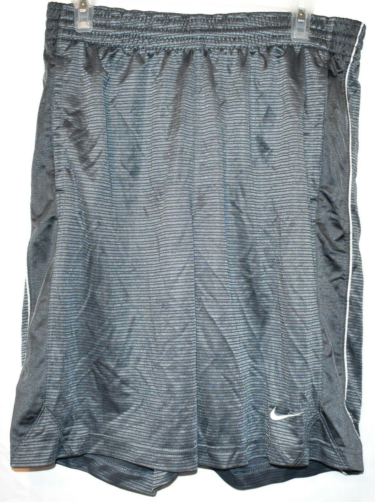 Nike Layup Men's Gray Basketball Athletic Swoosh Shorts Size M
