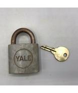 Vintage Yale Laiton Cadenas Verrou Avec Clé - $24.74