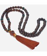 Tassel Necklace, Statement Necklace, Beaded Necklace, Mala 108, Long Bea... - $30.40
