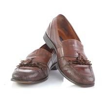 Bostonian Florentine Italy Brown Leather Weave Loafers Kiltie Tassel Mens 12 - $29.52