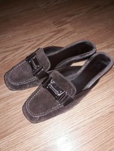 Cole Haan NikeAir Size 8.5 B  Womens Brown Leather Slip On Sandals - $23.76