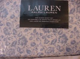 Ralph Lauren Dusty Blue Cottage Floral Sheet Set Queen - $95.00