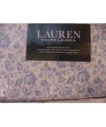 Ralph Lauren Dusty Blue Cottage Floral Sheet Set Queen - $95.00