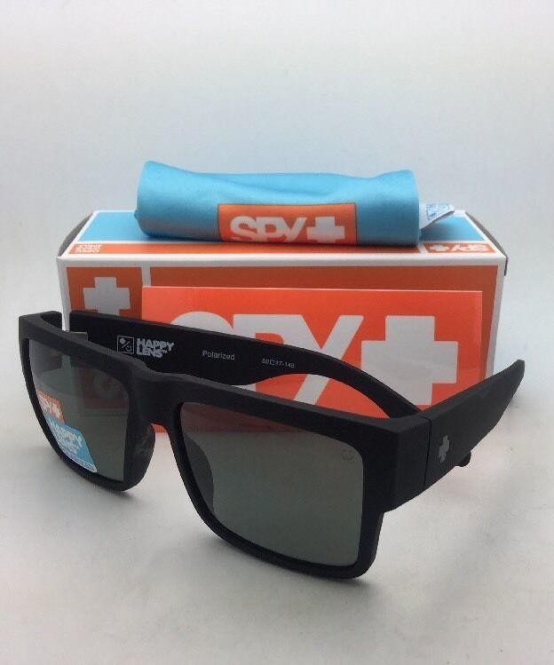 Polarisiert Spy Optic Sonnenbrille Cyrus Weich Matt Schwarz Rahmen W / Happy image 3