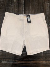 NWT!!! Tommy Hilfiger Mens Shorts Flex Stretch Flat Front White Size 36-... - $29.69