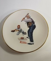 Norman Rockwell Batter-Up Gorham China Collector Plate Danbury Mint1981 - $5.00