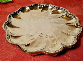 """Mid century SPIRAL DESIGN translucent silver candy dish dessert 8"""" W X 1 1/4"""" T"""