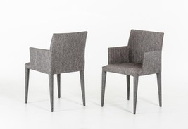 VIG Modrest Medford Grey Fabric Fully Covered Dining Chair (Set of 2) - $420.00