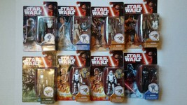"""Lot of 8 Star Wars The Force Awakens 3.75"""" Action Figures - 2015 Hasbro NEW - $53.45"""