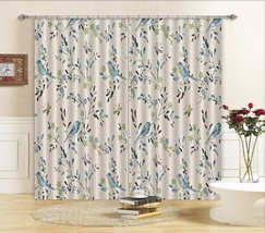 3D Birds Leaves Blockout Photo Curtain Printing Curtains Drapes Fabric Window AU - $130.83+