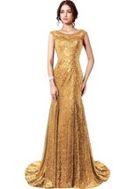 Women's Sexy Prom Dresses Long Sequins Formal Evening Dresses Ball Gowns... - $108.99