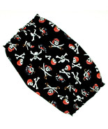 Dog Snood Black Jolly Roger Pirate Skulls Cotton by Howlin Hounds Size S... - $11.50