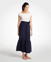 NWT Ann Taylor Women's Tie Waist Flounce Maxi Skirt - Night Sky - Size 6 - $39.56