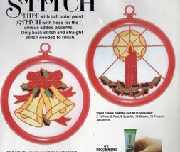 Vintage Tint N Stitch Christmas Craft Kit Bells and Candles Studio Twelve - $20.33
