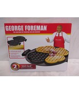 George Foreman 360 Grill Heart Shape Waffle Plate Set Brand New In Box - $29.69