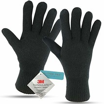 Winter Gloves For Men: Mens Cold Weather Heated Snow Glove: Men's Knit (... - $23.30