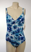 Caribbean Joe One Piece Blue Floral Swimsuit NWT $74 - $37.49