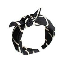 Black Plaid Prints, Bow Headband and Broadside Designed