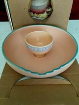Vintage TreasureCraft Southwest Chip & Dip /Vegetables Serving Bowl Tra... - $23.75