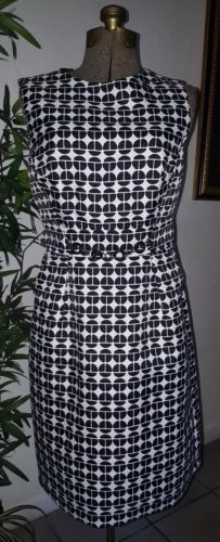 Primary image for London Times Black white geometric carreer Dress sleeveless Size 8