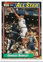Basketball Card- Charles Barkley 1992 Topps #107 All-Stars - $1.28