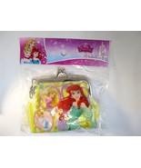 Disney Princess Rapunzel, Cinderella & Ariel Gamaguchi Coin Purse Wallet H - $7.60