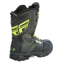 New Mens FLY Racing Marker Black/Hi-Viz Sz 7 Snowmobile Winter Snow Boots -40 F image 2