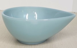 "Fire King Swedish Modern Turquoise Blue Teardrop 6"" Mixing Bowl - $54.45"