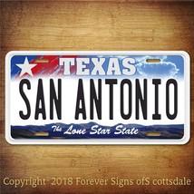 San Antonio Texas City/College Aluminum Vanity License Plate - $12.82