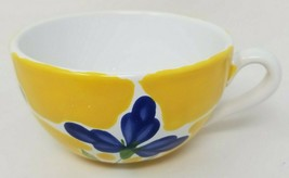 "Dansk ST. TROPEZ Tea Cup 4.75"" Wide 2.75"" Tall Hand Painted from Portugal - $18.67"
