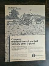 Vintage 1969 International Harvester 444 Farm Tractor Full Page Original Ad - $6.64