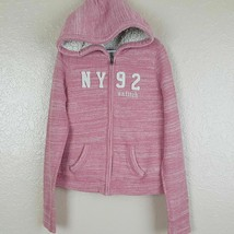 Abercrombie & Fitch Girl's Full Zip Hoodie Size S Heathered Pink - $14.84