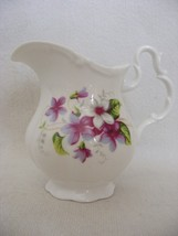 "Royal Albert Creamer Small Pitcher Violets 3.5"" Tall  Mint Condition - $19.95"