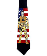 Army Soldier Flag Necktie Military Black Neck Tie American Armed Forces ... - $15.79