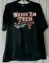 Men T-Shirt Wreck Em Tech Texas Tech Mascot BlackTee Size XL - $8.31