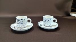 Set of 2 Vintage Demitasse Tea Cups and Saucers~ Waechtersbach West Germany - $6.00